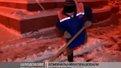 Засипало снігом: комунальники та техніка працюють у посиленому режимі