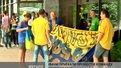 Українські фани провели молодіжну збірну на матч з Грецією