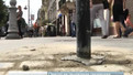 На проспекті Свободи у Львові гранітні півкулі замінюють на стовпці