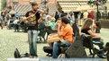 Під час жалоби у центрі Львова гучно грають вуличні музики