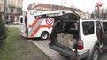 У Львові освятили автомобілі з медикаментами і пасками, які вирушили в зону АТО