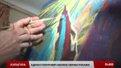 Львівський митець-шульга Адріан Гелитович малює обома руками одночасно