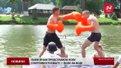 Львів'яни вперше боксували на воді