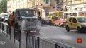 У Львові через спеку трамвайні колії охолоджують, аби уникнути деформації