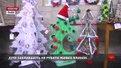 Біля Ратуші виставили зразки альтернативної ялинки, які робили  учні