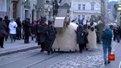 У центрі Львова колядував вертеп-карнавал із гігантськими фігурами