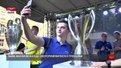 Близько чотирьох тисяч львів'ян зробили селфі з кубками Ліги чемпіонів