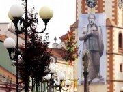 У чеському Соколові вивісили Путіна в образі Гітлера-Сталіна