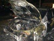 Невідомі підпалили авто в.о. мера Ужгорода (відео)