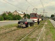 У Львові через ДТП на дві години був заблокований рух трамваїв