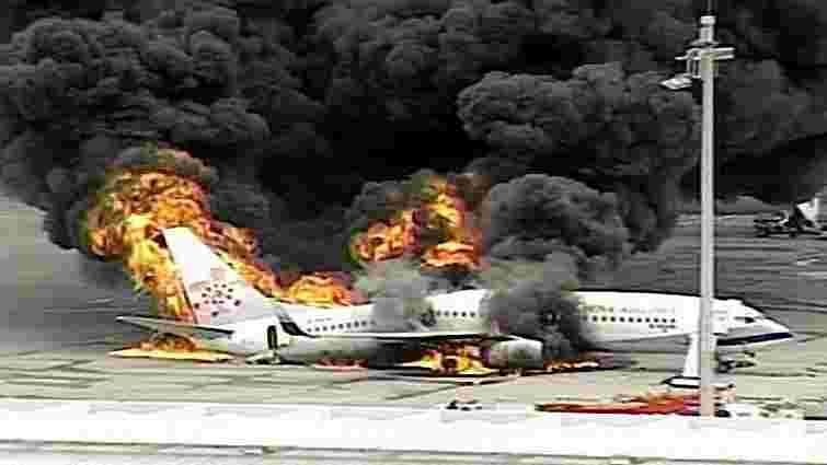 В аеропорту Праги згорів пасажирський літак