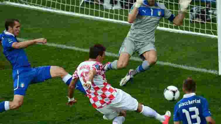 Матч Італія – Хорватія закінчився нічиєю