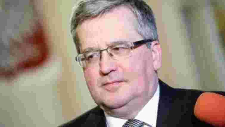 Коморовський сказав, що у Волинській трагедії є ознаки геноциду