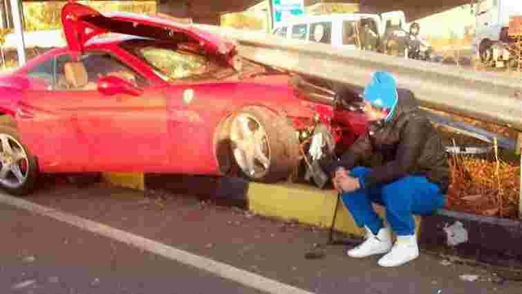 П'яний Мілевський вщент розбив свою Ferrari (фото)
