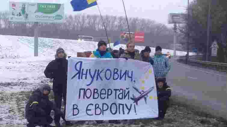 Щоб полетіти до Росії, в аеропорт Янукович добирався на вертольоті