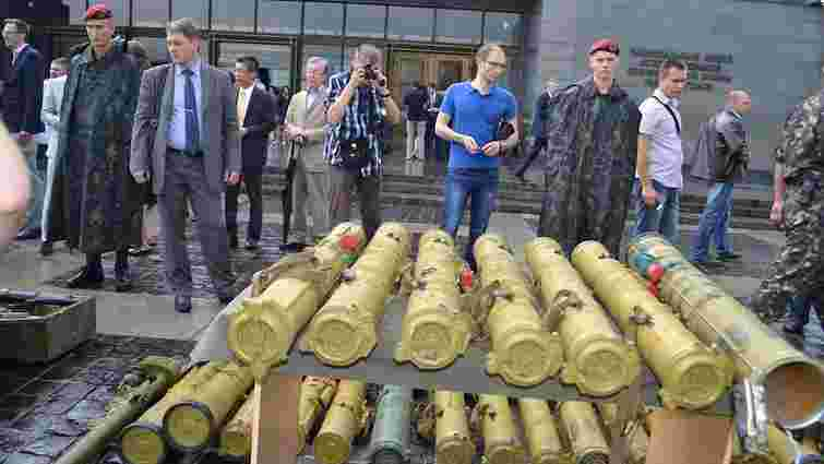 Міноборони влаштувало відкритий музей із зразками трофейної зброї та бронетехніки бойовиків