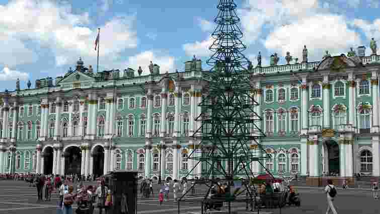 Естонська художниця перетворила площу у Санкт-Петербурзі на Майдан