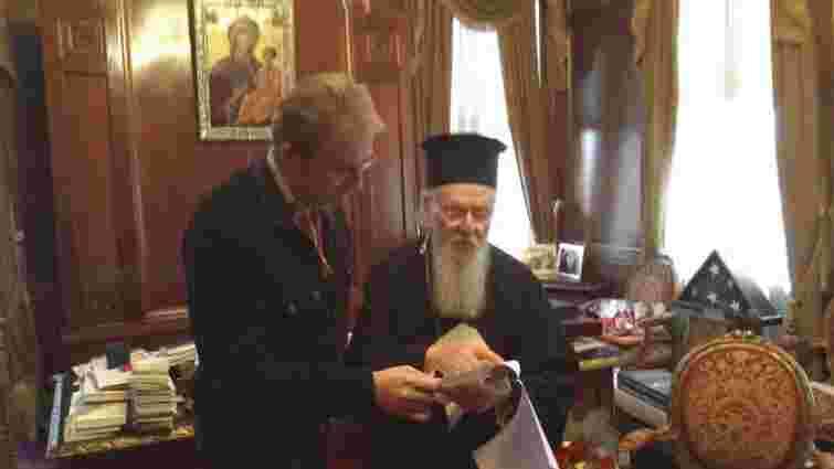 Садовий у Стамбулі зустрівся з Вселенським патріархом Варфоломієм