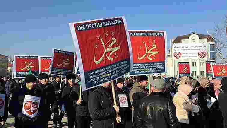 У Грозному на мітинг проти карикатур на Магомета вийшло понад 800 тис. осіб