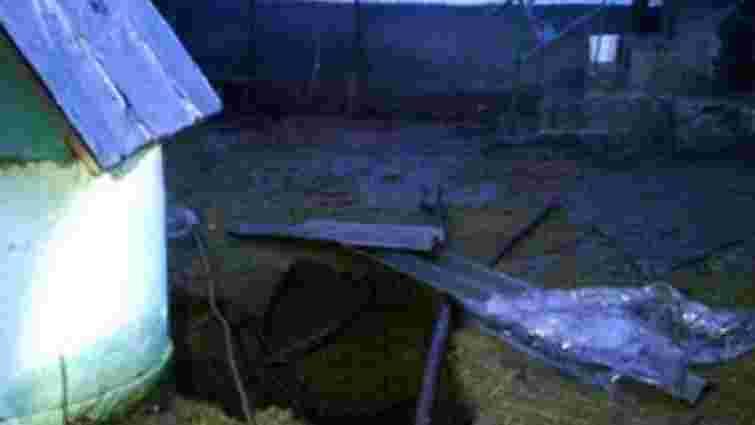 На Львівщині біля житлового будинку провалилася земля