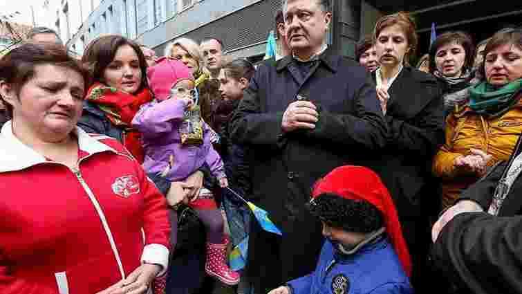 Порошенко зустрівся з українською діаспорою Дрездена