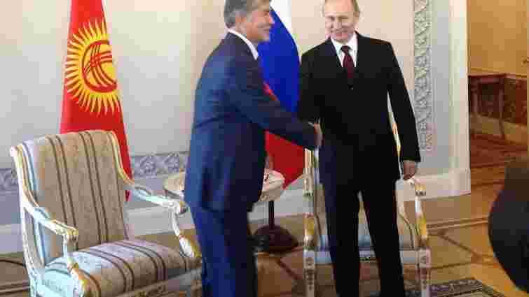 Путін з'явився в Петербурзі на зустріч з президентом Киргизстану