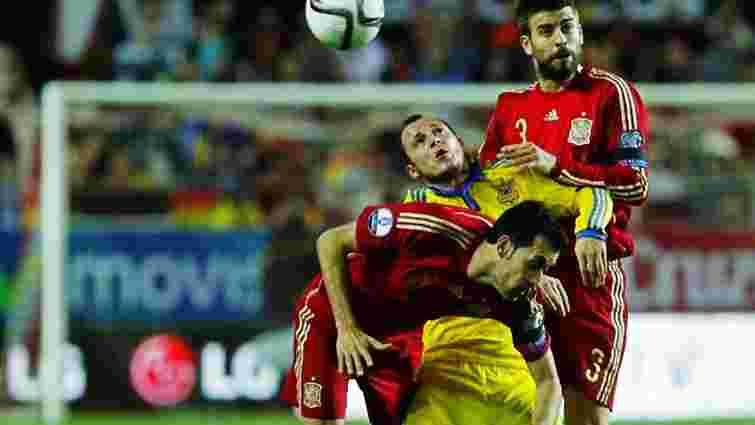 Євро-2016: збірна України мінімально поступилась Іспанії