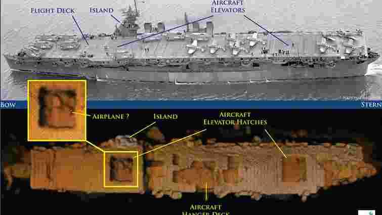 Біля узбережжя США знайшли радіоактивний авіаносець часів Другої світової війни
