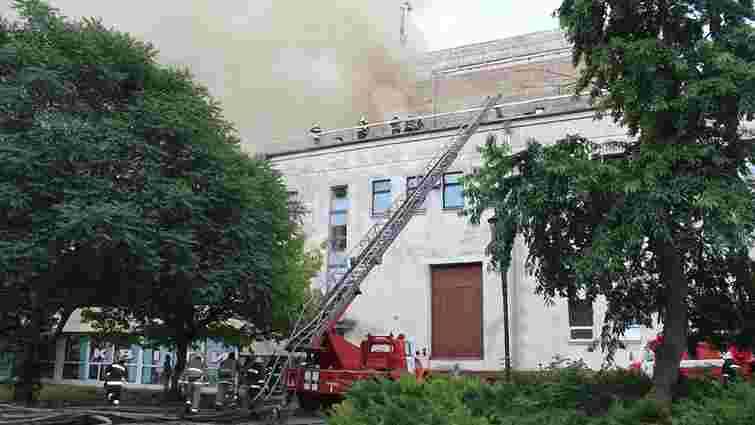 У Черкасах пожежею знищено дах і залу драмтеатру