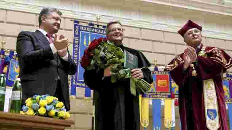 Президент Польщі став почесним доктором Львівського університету