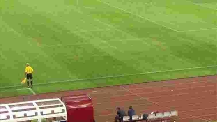 УЄФА оштрафував збірну Хорватії за свастику на газоні стадіону