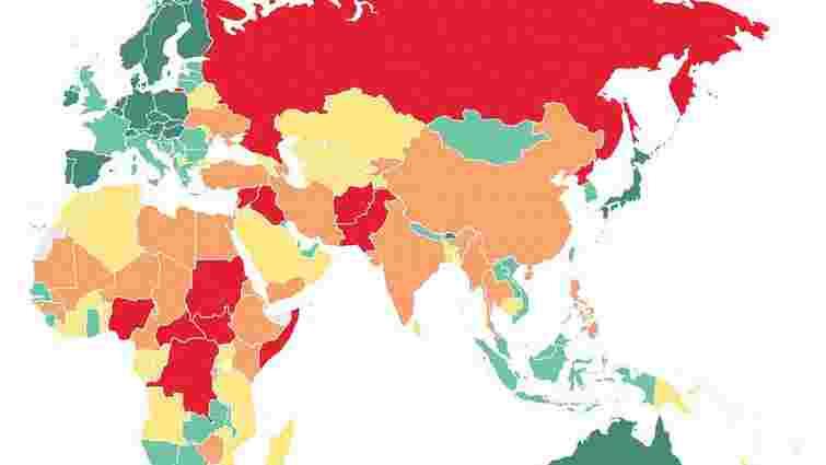 Росія увійшла в десятку найнебезпечніших країн світу