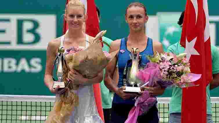 Українська тенісистка Леся Цуренко вперше в кар'єрі перемогла у фіналі турніру WTA