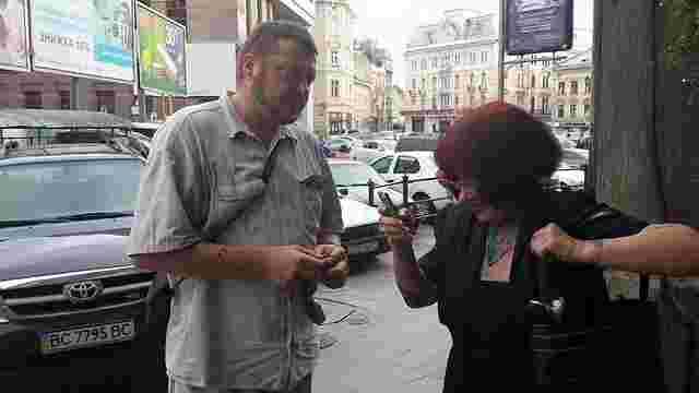 Затриману СБУ учасницю «Галицького яструба» облили зеленкою у центрі Львова