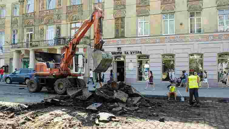 Проспект Свободи у Львові повністю замостять історичною бруківкою