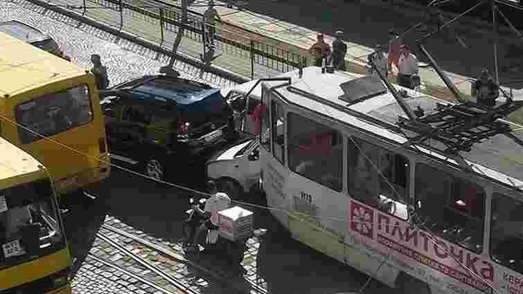 За день у Львові трапилось три аварії за участі трамваїв