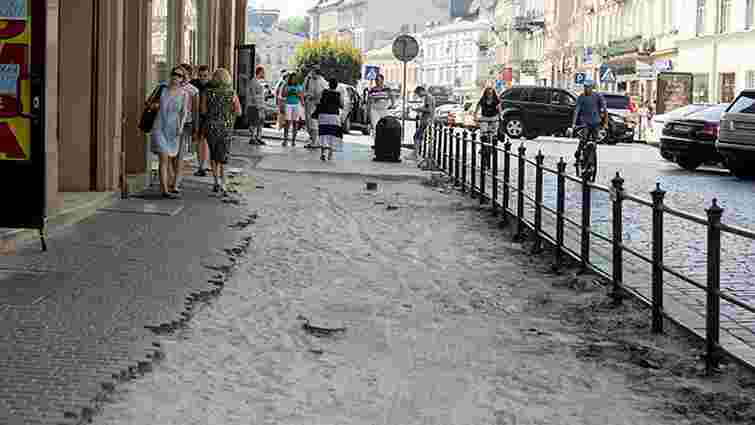 У Львові через брак коштів припинили ремонт проспекту Шевченка