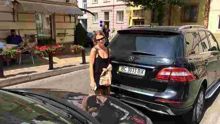 Ольга Фреймут грубо порушила правила паркування у Львові