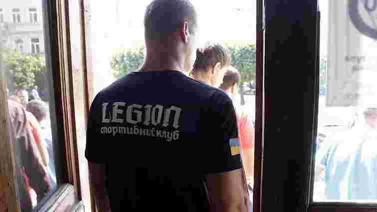 Прес-конференцію «Розвитку громади» охороняли 20 «бійців» клубу «Легіон»
