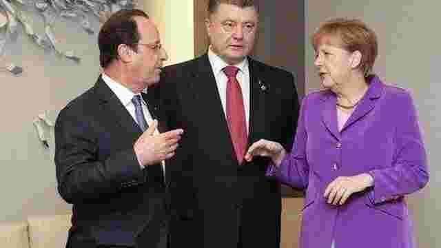 Порошенко, Олланд і Меркель скоординували позиції напередодні зустрічі в Парижі