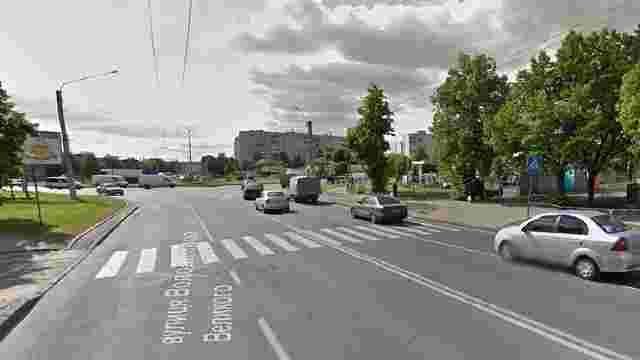 На вул. В. Великого у Львові модернізують пішохідний перехід