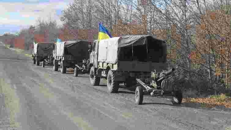 Українські військові завершили відвід озброєнь калібром до 100 мм на Маріупольському напрямку