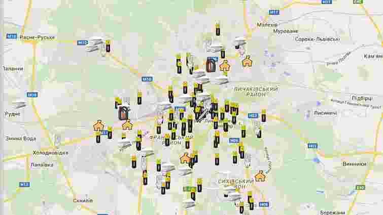 У Львові з'явилась інтерактивна мапа із пунктами утилізації батарейок та ртутних ламп