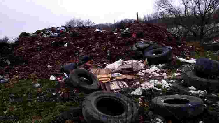 Поблизу Львівського автовокзалу виявили несанкціоноване сміттєзвалище