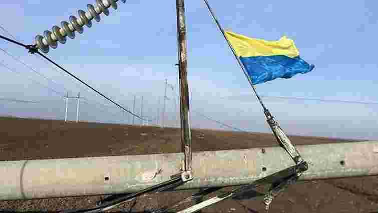 Блокувальники Криму назвали умову, за якої дозволять відновити підірвані електроопори
