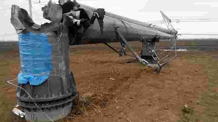Ремонтників не допустять до пошкоджених ЛЕП на адмінкордоні з Кримом до понеділка