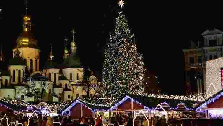 На Софійській площі у Києві відкрили головну ялинку країни