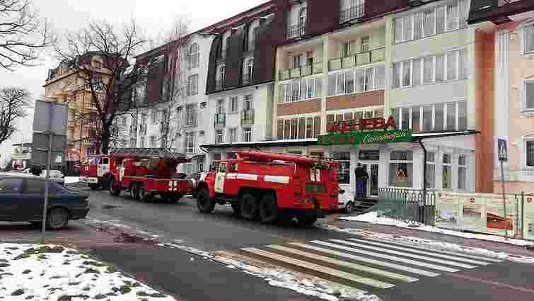 У Трускавці виникла пожежа у санаторії «Женева»