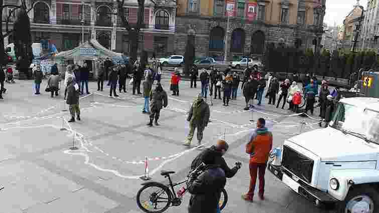 У Львові активісти провели акцію до другої річниці окупації Криму
