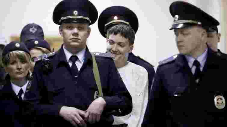 Надію Савченко доставили до суду для оголошення вироку під наглядом 16 автоматників